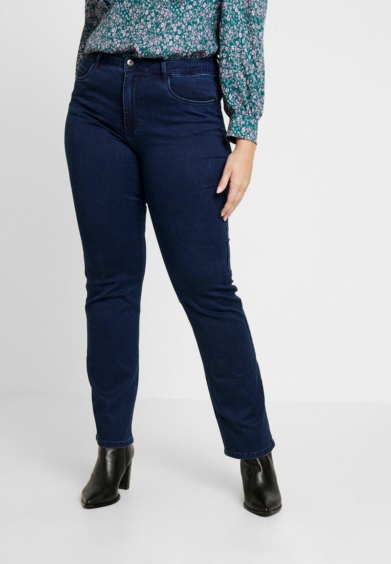 ONLY Carmakoma - CARAUGUSTA - Straight leg jeans - dark blue denim