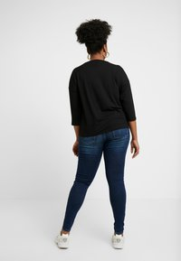 ONLY Carmakoma - CARWILLY - Jeans Skinny Fit - dark blue denim - 2