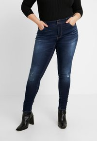 ONLY Carmakoma - CARCARMA - Jeans Skinny Fit - dark blue denim - 0