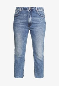 ONLY Carmakoma - CAROXY JEANS - Jeans a sigaretta - light blue denim - 3