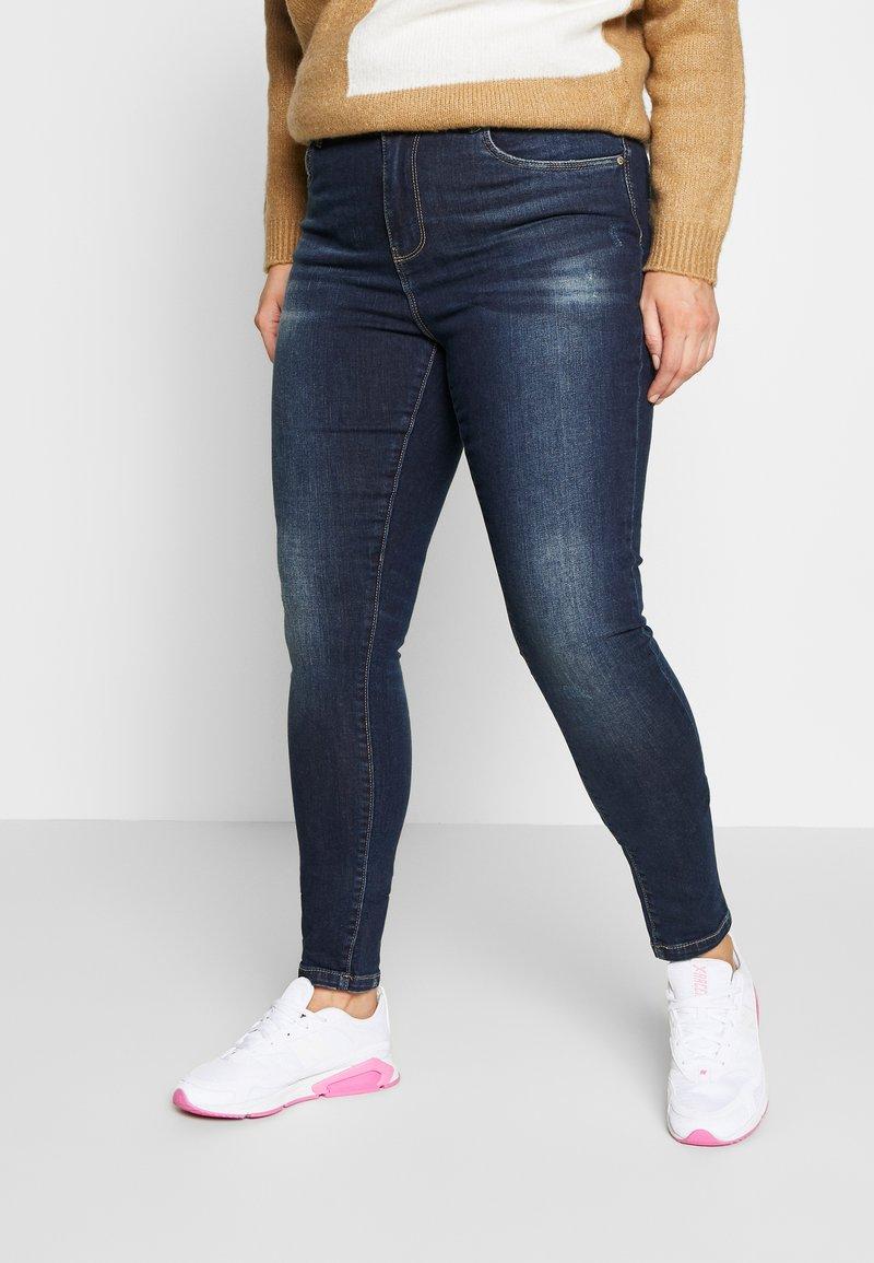 ONLY Carmakoma - CARSTORMY - Jeans Skinny Fit - dark blue denim
