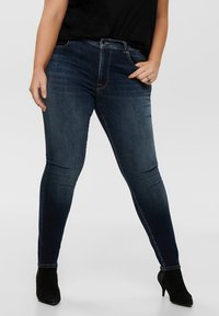 ONLY Carmakoma - SHAPE UP - Jeans Skinny - dark blue denim - 0