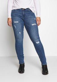 ONLY Carmakoma - CARCARMA REGULAR SLIM  - Jeans slim fit - medium blue denim - 0