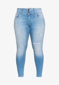 ONLY Carmakoma - CARANNABEL - Jeans Skinny Fit - medium blue denim - 4