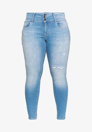 CARANNABEL - Jeans Skinny Fit - medium blue denim