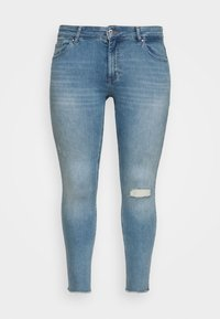 ONLY Carmakoma - CARWILLY RAW - Jeans Skinny Fit - light blue denim - 0