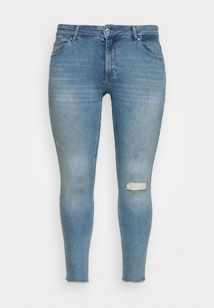 CARWILLY RAW - Jeans Skinny - light blue denim