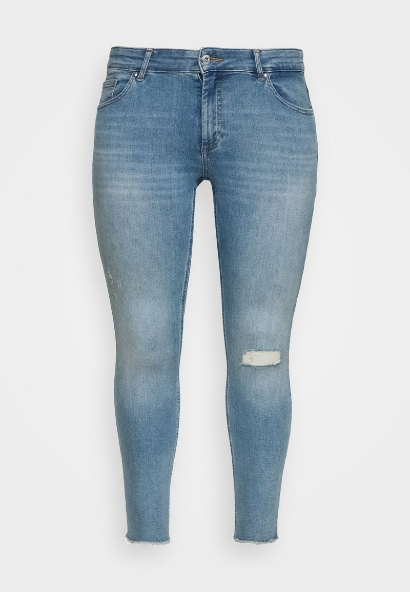 ONLY Carmakoma - CARWILLY RAW - Jeans Skinny Fit - light blue denim