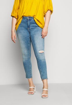CARWILLY RAW - Jeans Skinny Fit - light blue denim