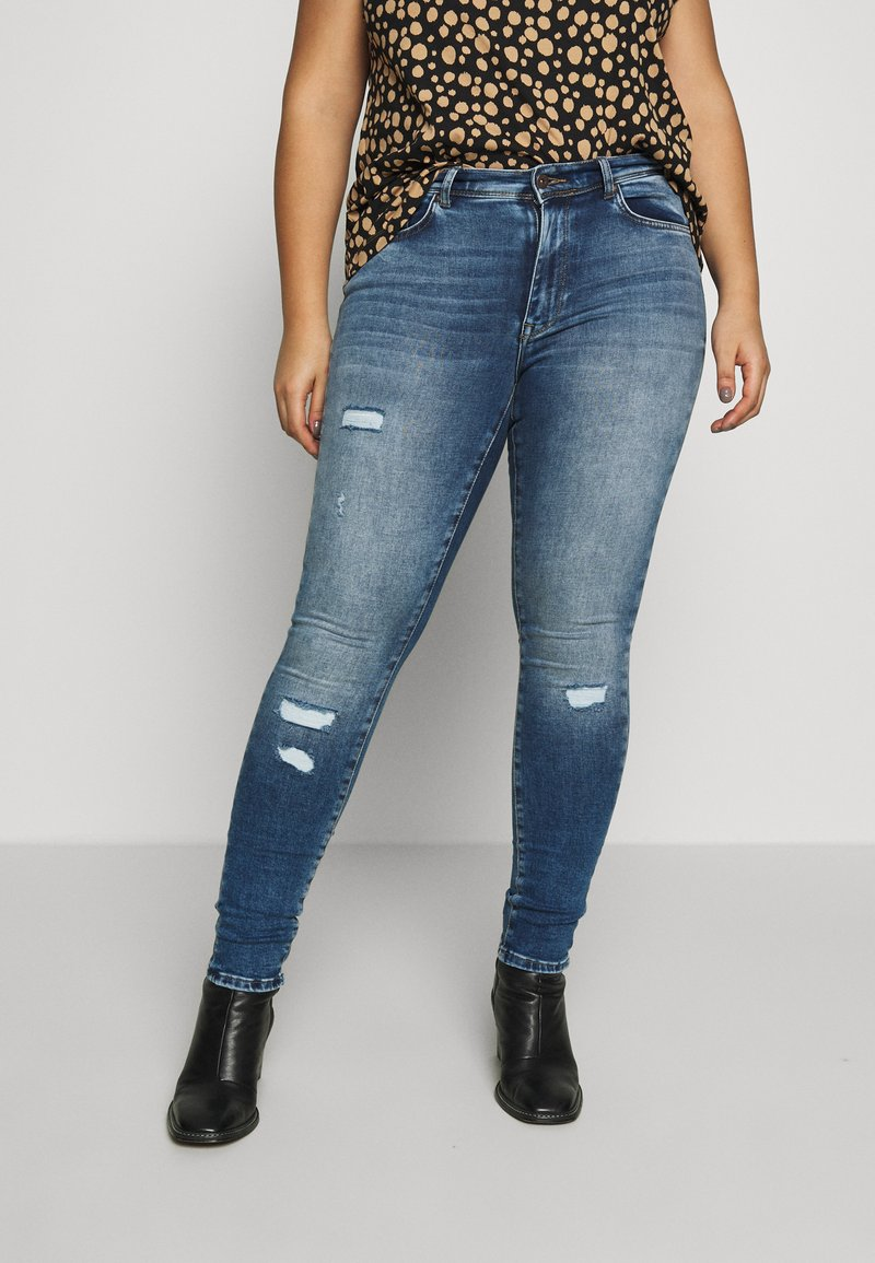 ONLY Carmakoma - CARMAYA LIFE - Jeans Skinny Fit - medium blue denim