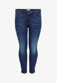 ONLY Carmakoma - SKINNY FIT JEANS CURVY CARKARLA REG ANKLE - Jeans Skinny Fit - dark blue denim - 4