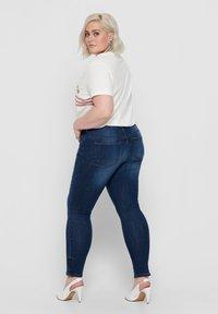 ONLY Carmakoma - SKINNY FIT JEANS CURVY CARKARLA REG ANKLE - Jeans Skinny Fit - dark blue denim - 2