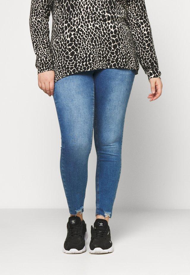CARWILLY LIFE ANKEL RAW  - Jeans Skinny Fit - medium blue denim