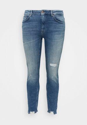 CARTARA LIFE REGULAR  CROPED - Jeans slim fit - medium blue denim