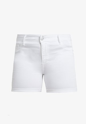 CARTHUNDER PUSH UP - Denim shorts - white