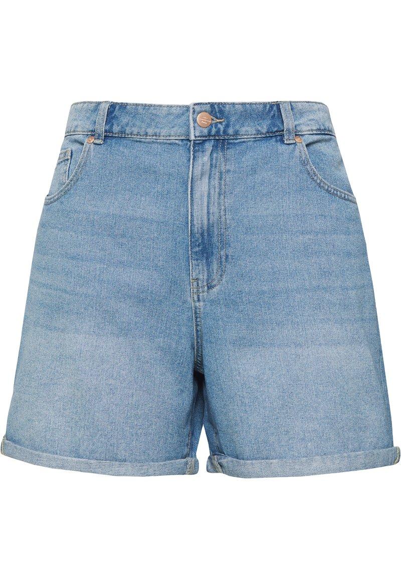 ONLY Carmakoma - JEANSSHORTS CURVY CARHINE REG - Shorts di jeans - light blue denim