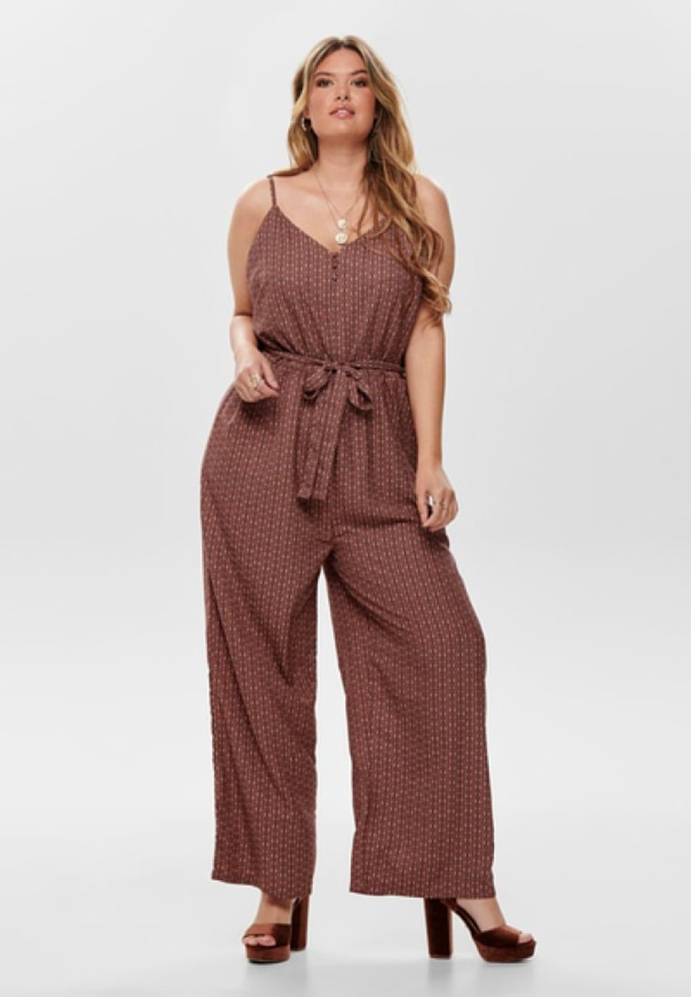 ONLY Carmakoma - GESTREIFTER CURVY - Jumpsuit - mottled brown