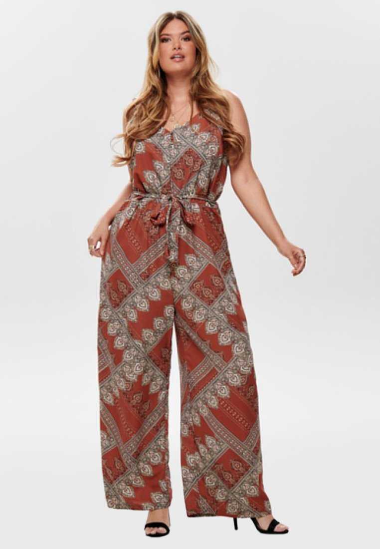 ONLY Carmakoma - GESTREIFTER CURVY - Jumpsuit - brown