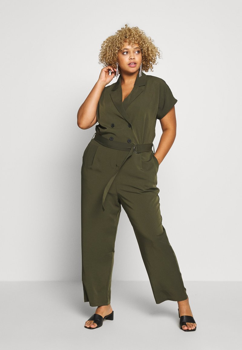 ONLY Carmakoma - CARTANNY - Jumpsuit - forest night