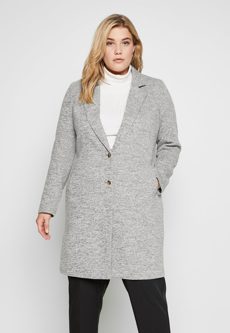 ONLY Carmakoma - CARCARRIE COAT - Krátký kabát - light grey melange