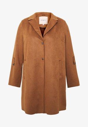 CARJOLINE FAUX SUEDE COAT  - Zimní kabát - argan oil