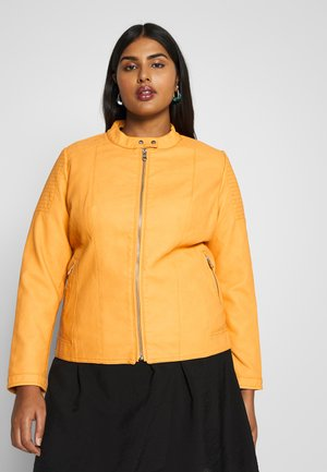 CARMELANIE JACKET - Faux leather jacket - golden apricot