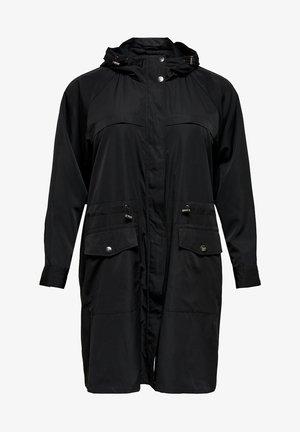 CURVY - Halflange jas - black