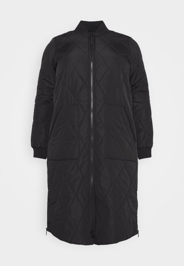 CARCARROT LONG QUILTED JACKET - Kappa / rock - black