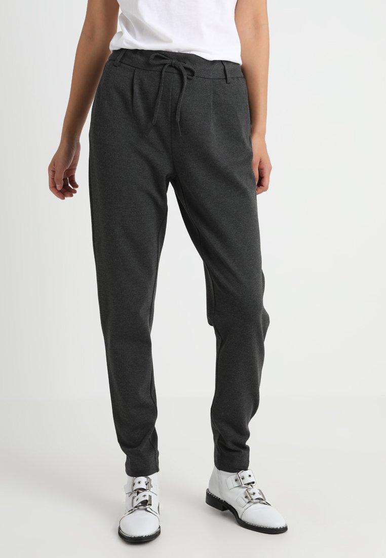 ONLY Tall - ONLPOPTRASH EASY  PANT - Stoffhose - dark grey melange