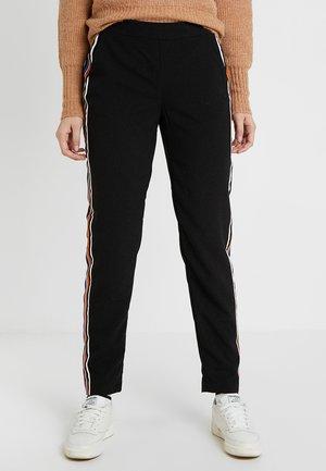 ONYROMA PANEL PANTS - Pantalones - black/multi color tape