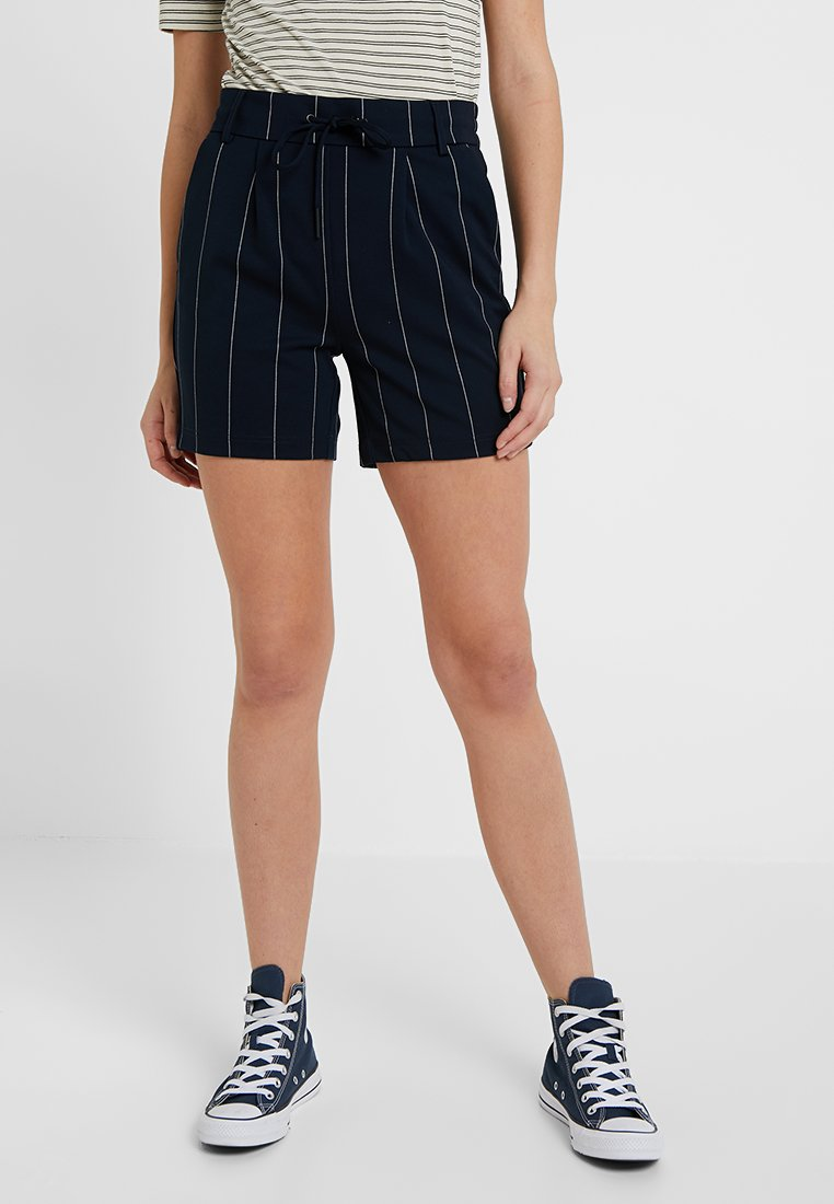 ONLY Tall - ONLPOPTRASH TEMPO STRIPE - Stoffhose - night sky/white