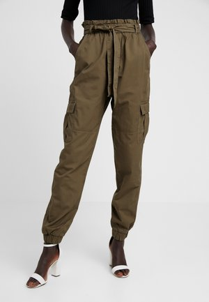 ONLMILES PAPERBAG PANT - Cargo trousers - beech