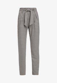 ONLY Tall - ONLLENA PAPERBAG PANTS - Pantalon classique - grape leaf/black/cream pink - 3