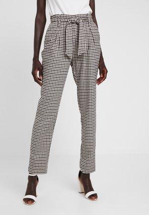ONLLENA PAPERBAG PANTS - Spodnie materiałowe - grape leaf/black/cream pink
