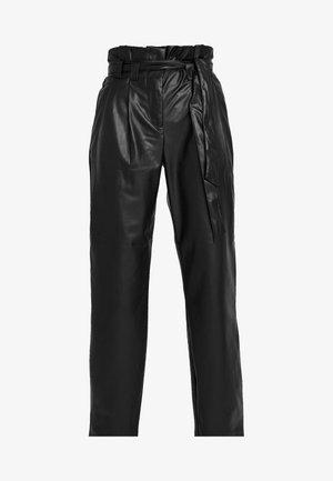 ONLNADIA PAPERBAG PANT - Trousers - black