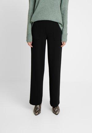 ONLMARTA ROCKY WIDE PANTS - Pantaloni - black