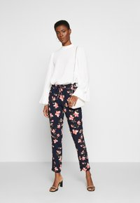 ONLY Tall - ONLNOVA PANT TALL - Trousers - night sky/magnolia - 1