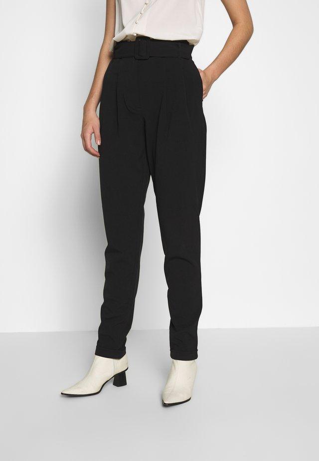 ONLSICA PAPERBAG PANTS - Kangashousut - black