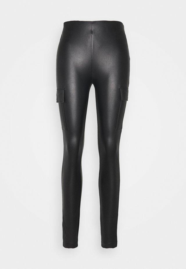 ONLMIRI CARGO LEGGING - Spodnie materiałowe - black