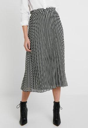 ONLFPAIGE LIFE ABOVE CALF SKIRT - A-line skirt - black/cloud dancer