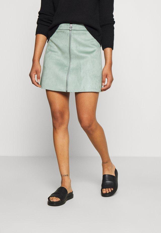 ONLEA BONDED SKIRT - Spódnica trapezowa - chinois green