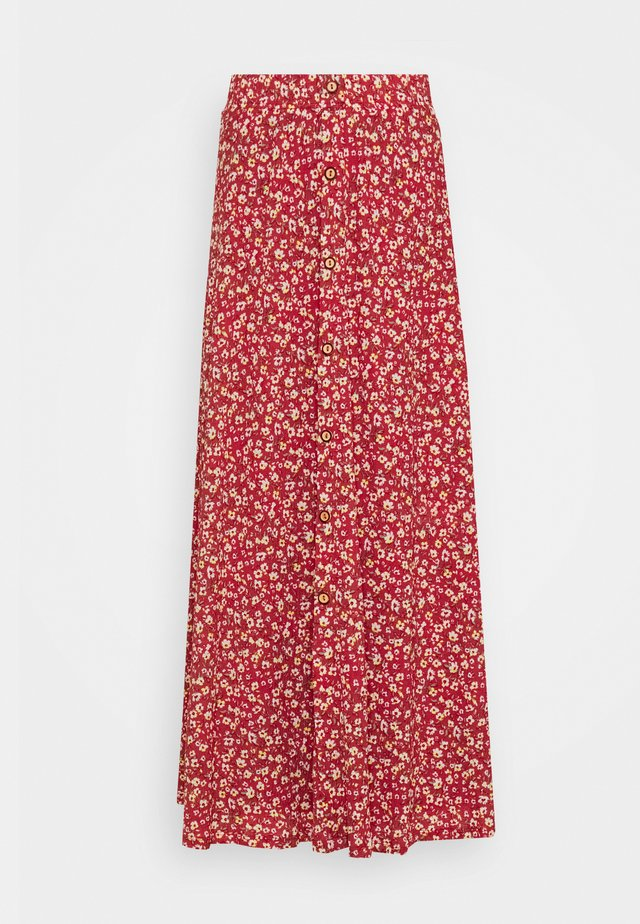 ONLPELLA MAXI SKIRT TALL - A-snit nederdel/ A-formede nederdele - mineral red