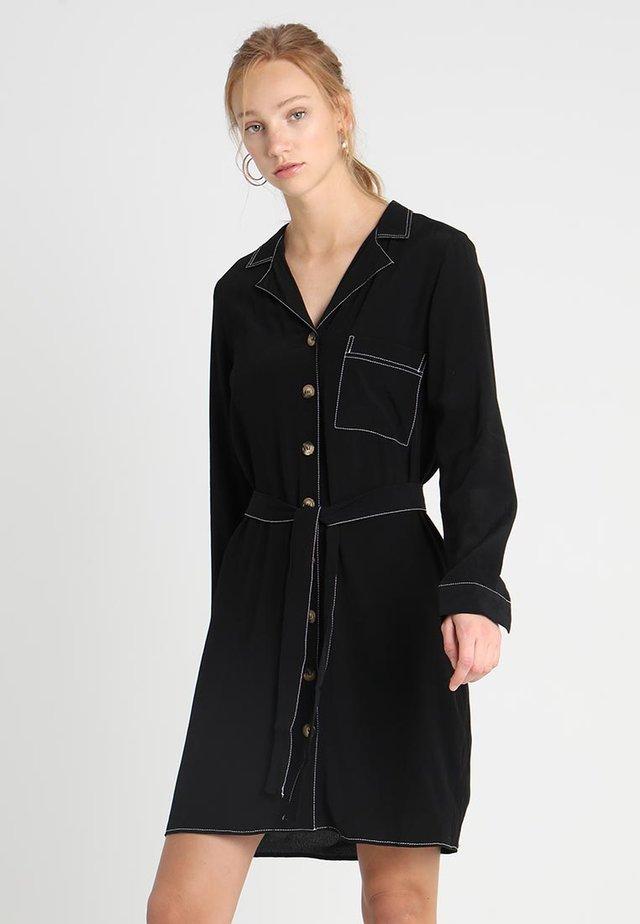 ONLNADINE BUTTON DRESS - Blusenkleid - black