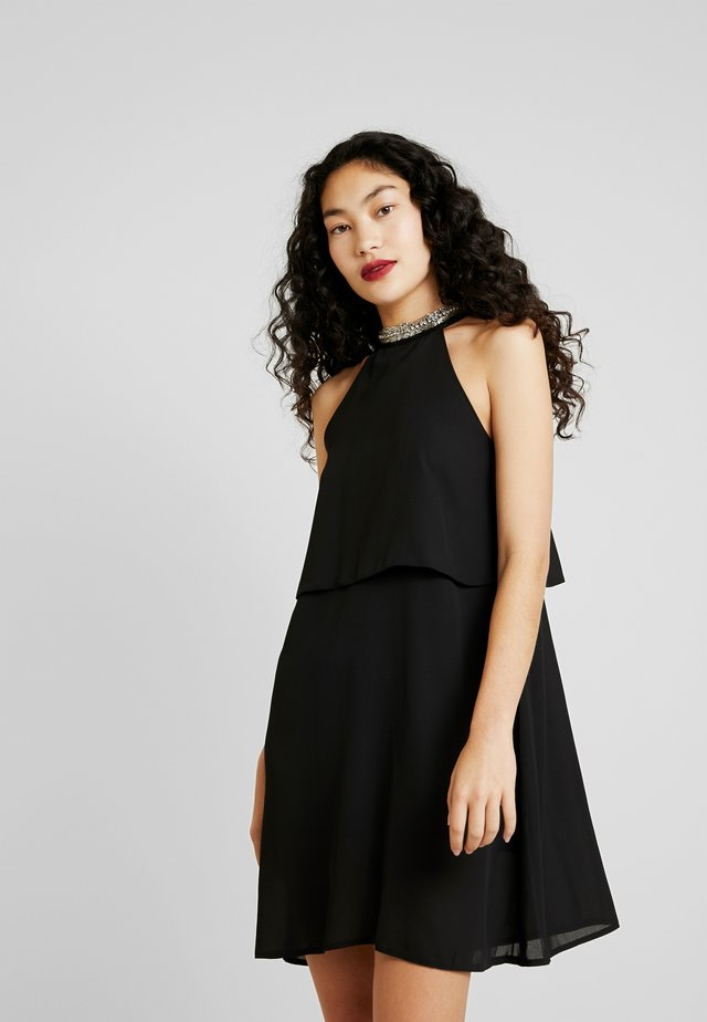 ONLGLORIA SHORT DRESS - Denní šaty - black