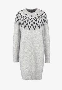ONLY Tall - ONLTRINKA NORDIC DRESS - Gebreide jurk - light grey melange - 4