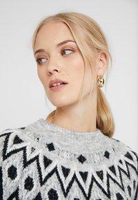 ONLY Tall - ONLTRINKA NORDIC DRESS - Gebreide jurk - light grey melange - 3