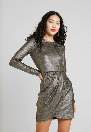 ONLALESSA GLITTER DRESS - Vestito elegante - black/pale gold