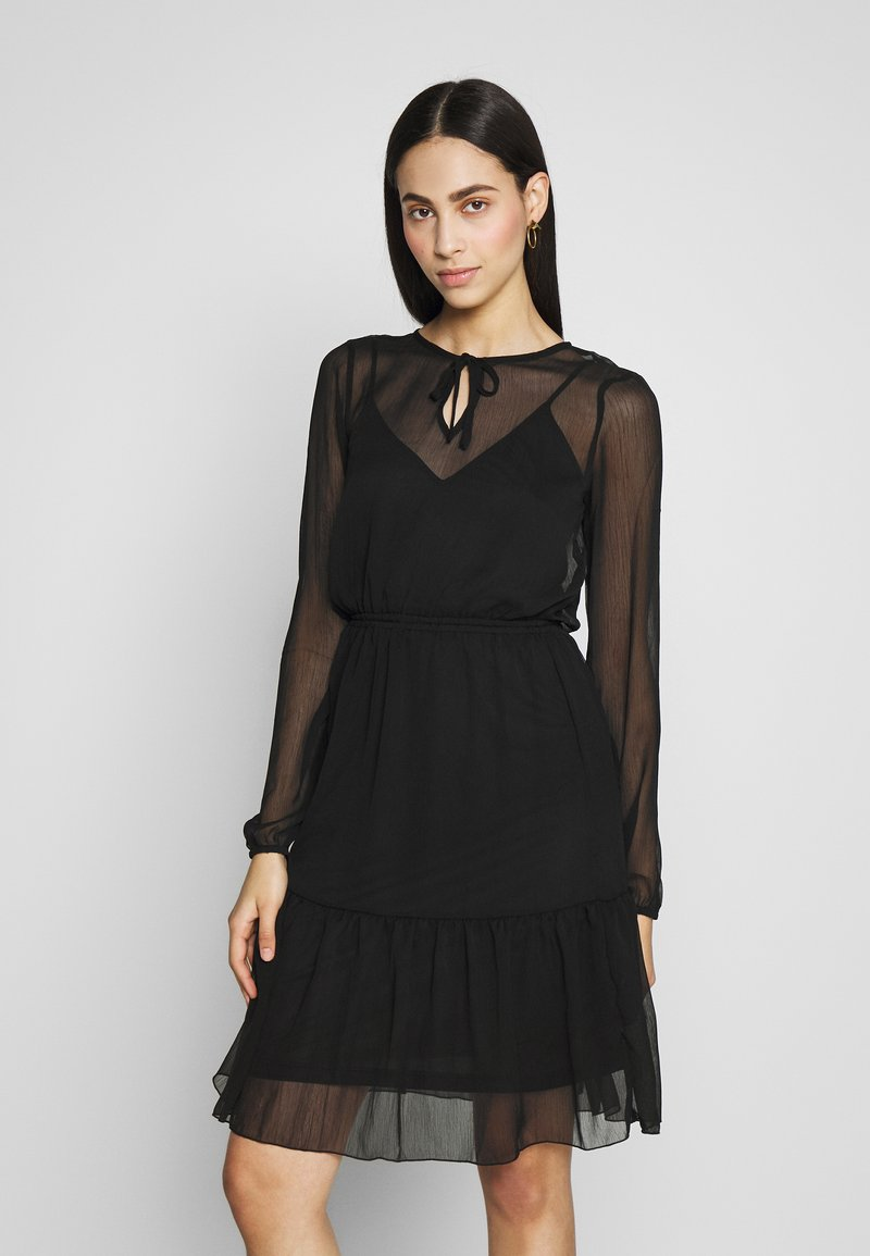 ONLY Tall - ONLTARA BOW  - Day dress - black