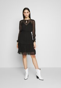 ONLY Tall - ONLTARA BOW  - Day dress - black - 1