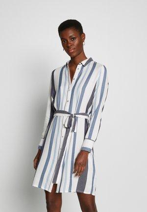 ONLANYA STRIPE DRESS SHIRT VEC - Blousejurk - cloud dancer/light blue / dark blue